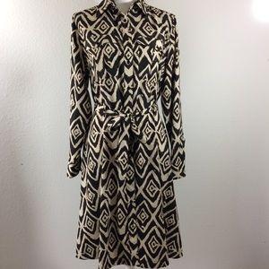 Ralph Lauren Patterned Button Down Dress Size 8